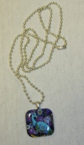 Peacock Necklace blue.purple