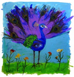 """Peacock"", Painted by Brenda Curry, Winthrop, MA"